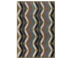 Chandra Rugs - Lepley Black/Brown Rugs - LEP2903 traditional-rugs