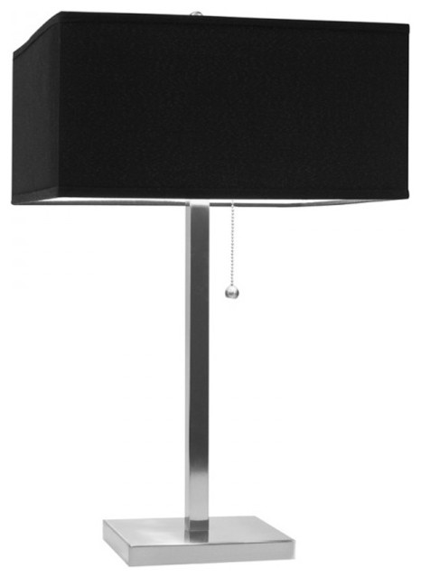 table lamps with black rectangular shade contemporary table lamps. Black Bedroom Furniture Sets. Home Design Ideas
