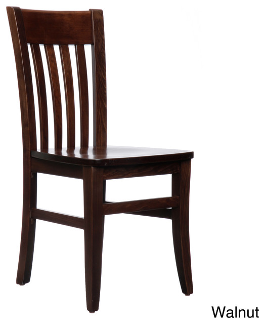 Jacob Mahogany Wood Dining Chairs (Set of 2) contemporary-dining-chairs