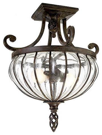 Palencia semi flush mount traditional flush mount - Bathroom lighting fixtures ceiling mounted ...