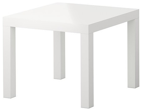 LACK Side Table, High Gloss White - modern - side tables and ...