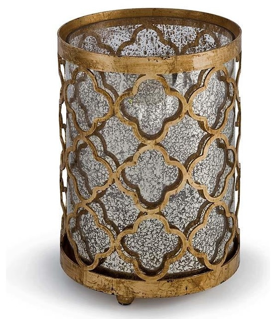 Regina Andrew Gilt Mosaic Hurricane-Small traditional-candles-and-candleholders
