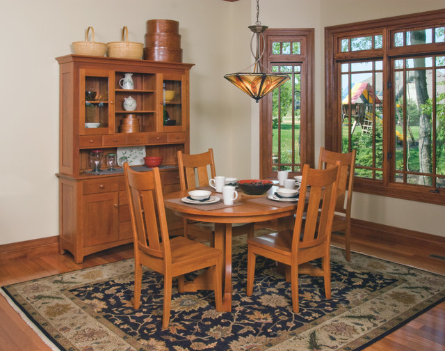 Craftsman style Cherry Dining Room Furniture Craftsman