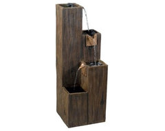Timber Indoor/Outdoor Fountain contemporary-outdoor-fountains-and-ponds