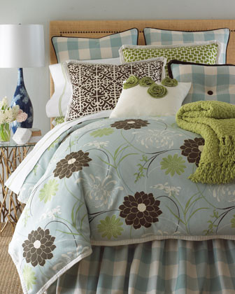 French Laundry Home Buffy Bed Linens Queen Floral Duvet Cover, 96 x 98 traditional-duvet-covers