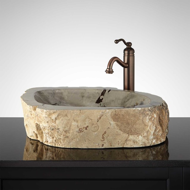 Natural Stone Sinks Bathroom : Fahim Natural Stone Vessel Sink - Traditional - Bathroom Sinks - by ...