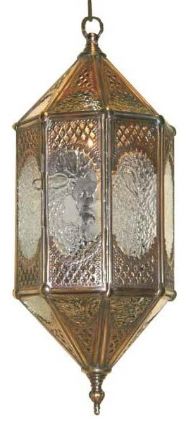 Wunderley Brass and Glass Lantern #2 traditional-ceiling-lighting