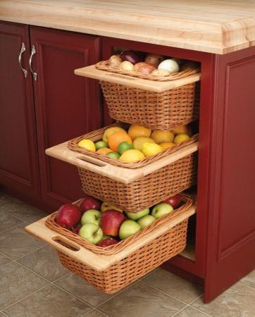 Kitchen Wicker Basket Cabinet Kitchen Cabinetry