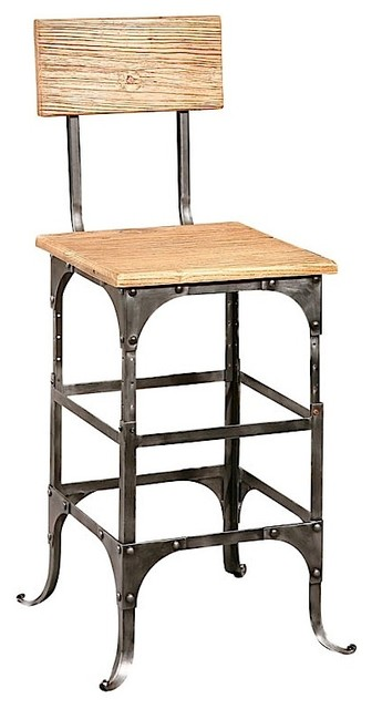 Furniture Classics Bleeker Recycled Wood Counter Stool
