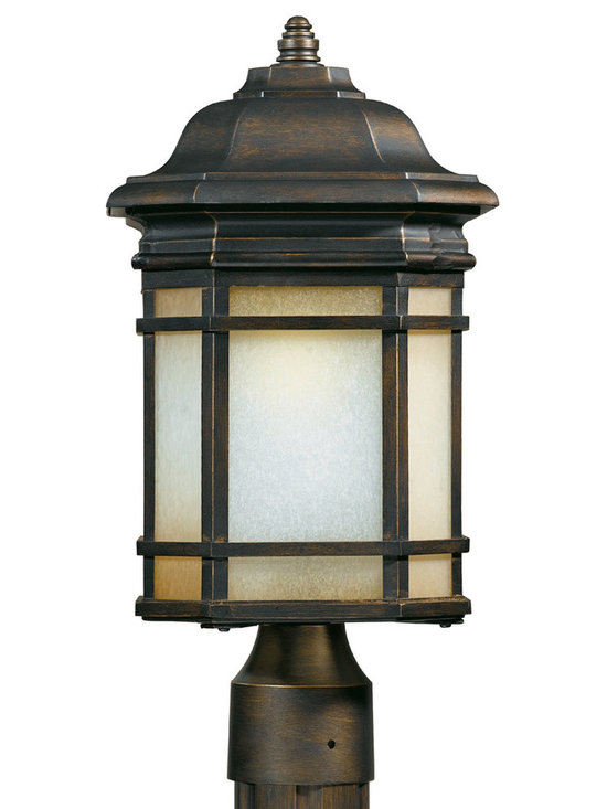 Triarch International - Triarch 78125-14 Oil Rubbed Bronze Outdoor Post Light - Triarch 78125-14 Oil Rubbed Bronze Outdoor Post Light