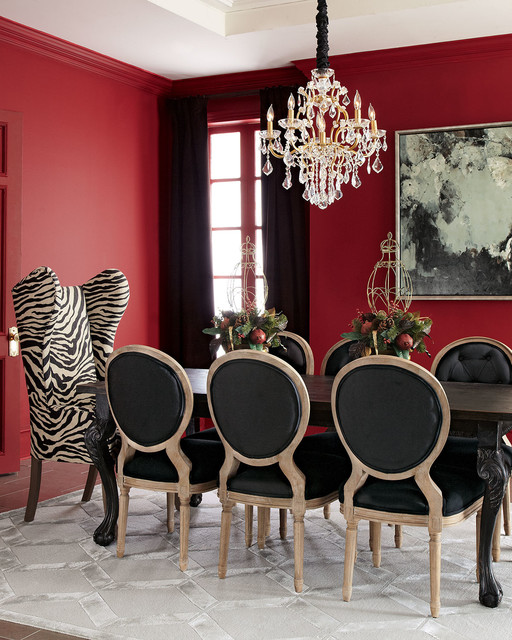haute house tuscan dining table kayla wingback chair black linen chairs armchairs and. Black Bedroom Furniture Sets. Home Design Ideas