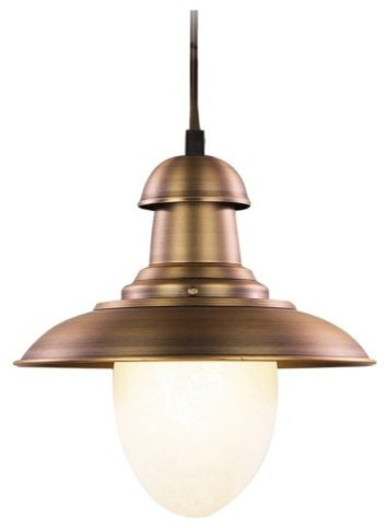 Landmark Lighting Railroad 1-Light Pendant - 7W in. contemporary-pendant-lighting