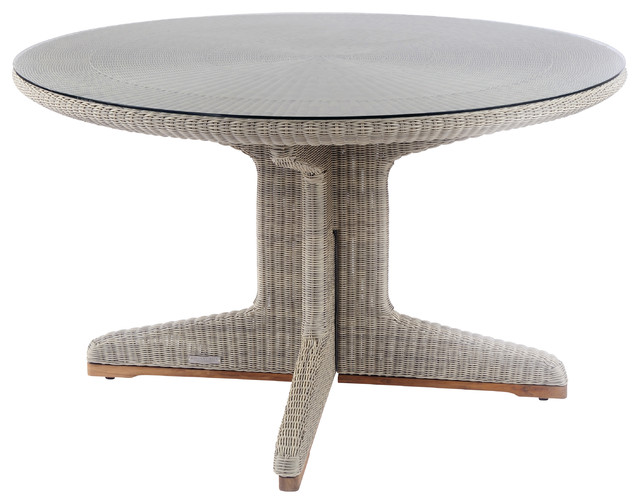 Westport Round Dining Table modern-outdoor-dining-tables