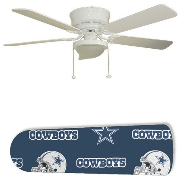 Dallas Cowboys Helmet 52 Quot Ceiling Fan With Lamp Eclectic Ceiling Fans By New Image Concepts
