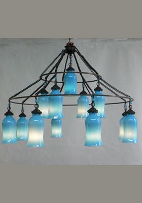Sara Milk Glass Chandelier eclectic-chandeliers