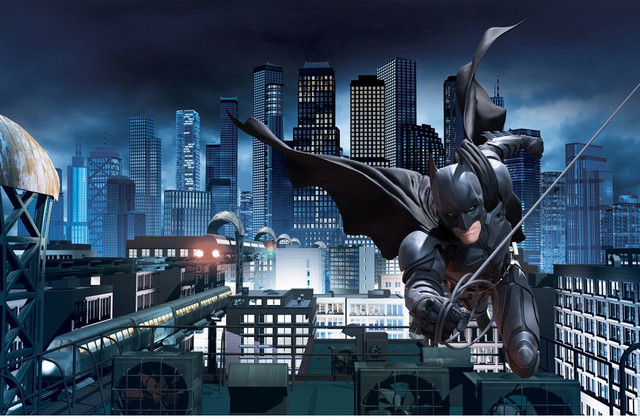 Batman dark knight rises giant wallpaper accent mural for Dark knight mural
