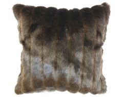 "Eilonwy Mink Pillow, Brown, 18"" x 18"" contemporary-decorative-pillows"