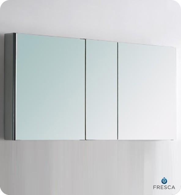 fresca 50 wide bathroom medicine cabinet w mirrors