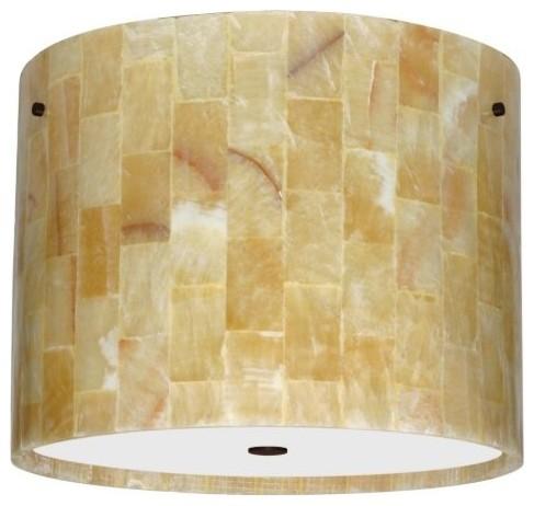 Tamburo Mosaic Onyx Flushmount by Besa Lighting modern-tile