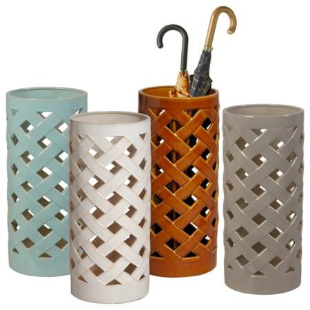 Crisscross Umbrella Stands/Vase traditional-coat-stands-and-umbrella-stands