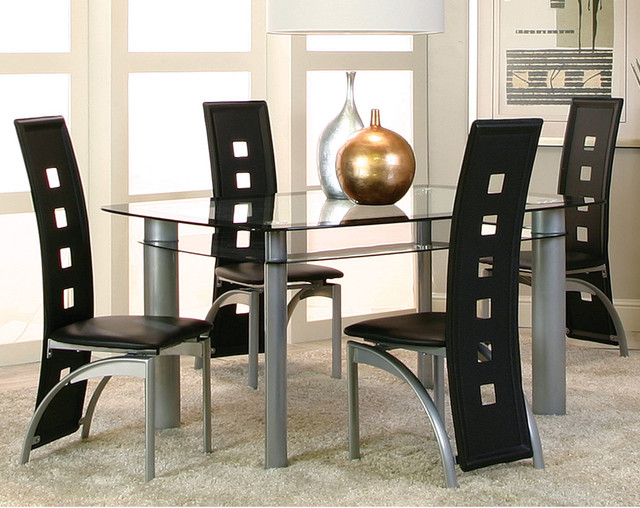 Valencia 5 Piece Dinette Set Modern Dining Room