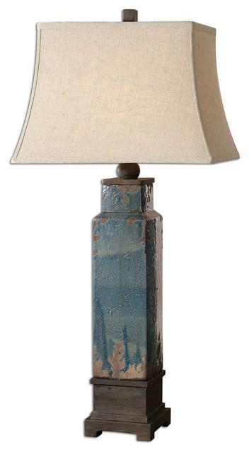 Uttermost Soprana Blue Table Lamp - 26833 transitional-home-decor