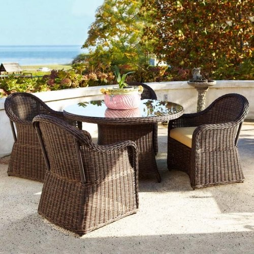 Anacara Mariner All Weather Wicker Patio Dining Set AN185 Contemporary