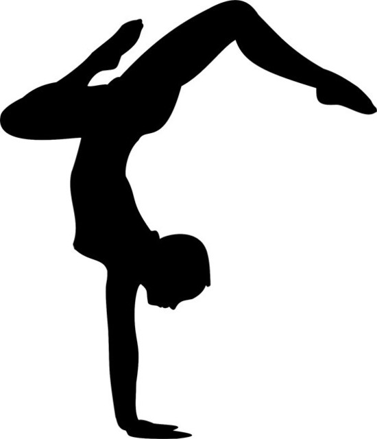 Dancer Silhouette Stencil 02 Contemporary Wall