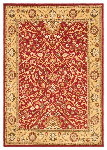Traditional tuscany 4 39 x5 39 6 rectangle red gold area rug for Red and gold area rugs