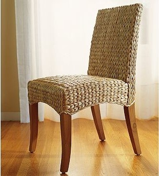 Seagrass Side Chair Honey Traditional Dining Chairs