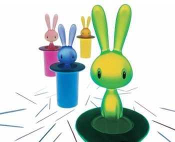 Alessi  Magic Bunny Toothpick Holder modern-kitchen-drawer-organizers