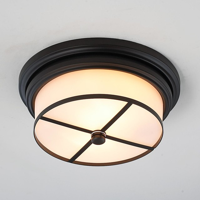 Modern Tailored Flush Mount Ceiling Light 2 Finishes Flush Mount Ceiling L