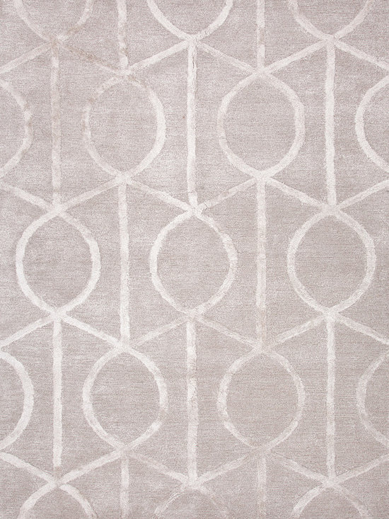 Jaipur Rugs - Ashwood Wool/Silk Tufted Rug-CT14, 9.6x13.6 - Over scaled sharp geometrics characterize this striking contemporary range of hand tufted rugs. The high/low construction in wool and art silk creates texture and surface interest and gives a look of matt and shine.