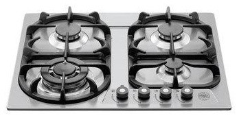 """Bertazzoni 24"""" Professional Series Cooktop: Stainless Steel 