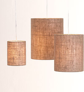 Irving Burlap Shades eclectic lamp shades