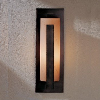 Hubbardton Forge  19-Inch Forged Vertical Bar Outdoor Sconce modern outdoor lighting