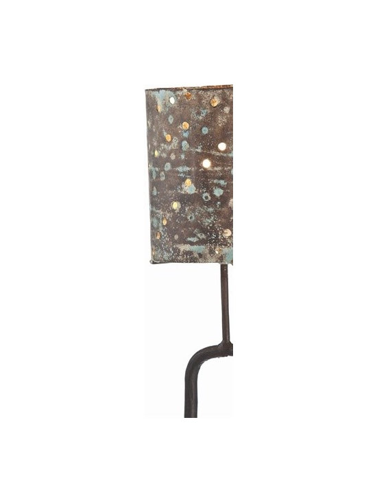 Arteriors Rex Rust Patina Iron Floor Lamp - Rex Rust Patina Iron Floor Lamp
