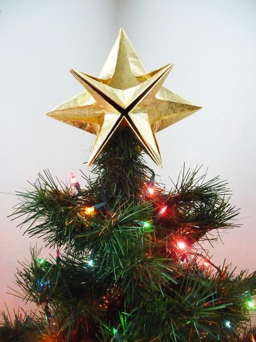 an elegant star christmas tree topper