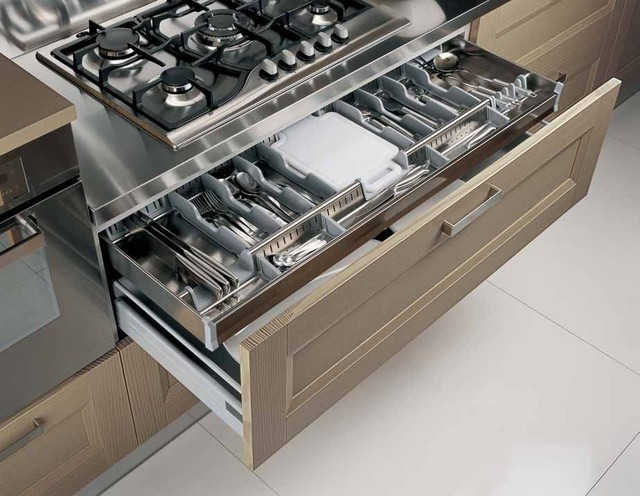Italian Kitchen Cabinet Organization And Close Up Images Contemporary