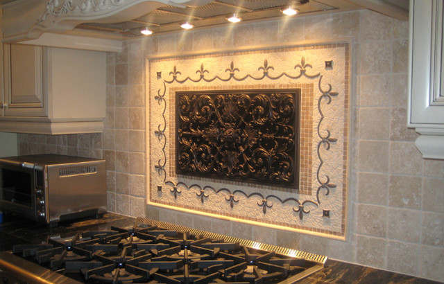 kitchen backsplash murals handcrafted mosaic mural for kitchen backsplash. beautiful ideas. Home Design Ideas