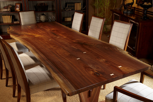 Harden Live Edge Solid Wood Table - craftsman - dining tables