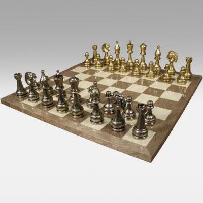 Staunton Metal Chess Set Modern Indoor Pots And