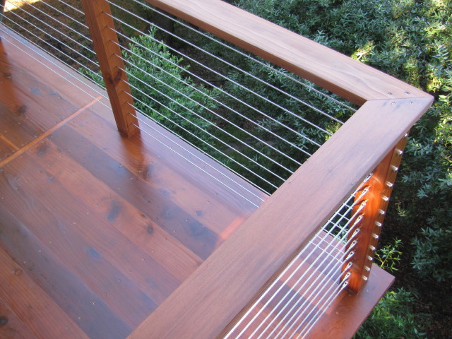 Cable Rail Wood Post And Contemporary Portland By Stainless amp Railing Inc