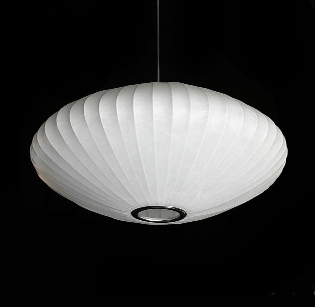 Modern Silk Shade Pendant lighting-George Nelson 7 contemporary-pendant-lighting