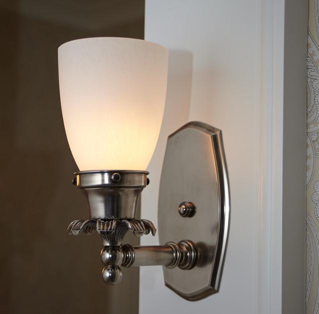 Interior Wall Sconce Closeup - Traditional - Bathroom Vanity Lighting - milwaukee - by Brass ...