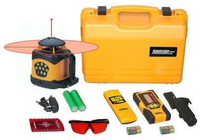 Johnson Laser Level. Electronic Self-Leveling Horizontal and Vertical Rotary Las contemporary-gardening-tools