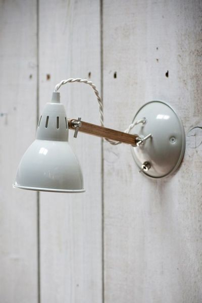 Bathroom Wall Sconces With Switch : Oak Arm Wall Light in Stone with Switch - Industrial - Wall Sconces - south east - by Rockett St ...