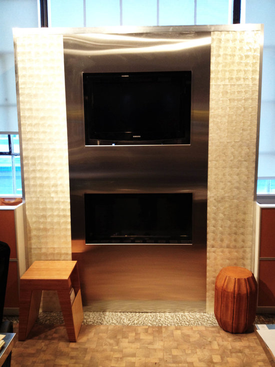 Custom Fireplaces - This fire place is located in our show room