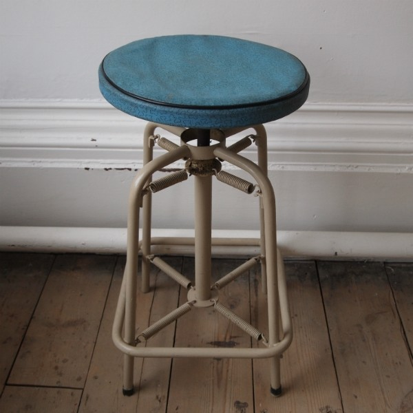Vintage Industrial Hospital Stool eclectic-accent-and-garden-stools