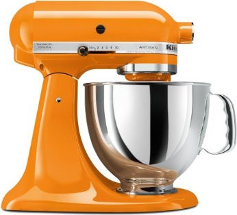 KitchenAid Artisan 5-Quart Stand Mixer, Tangerine  small kitchen appliances
